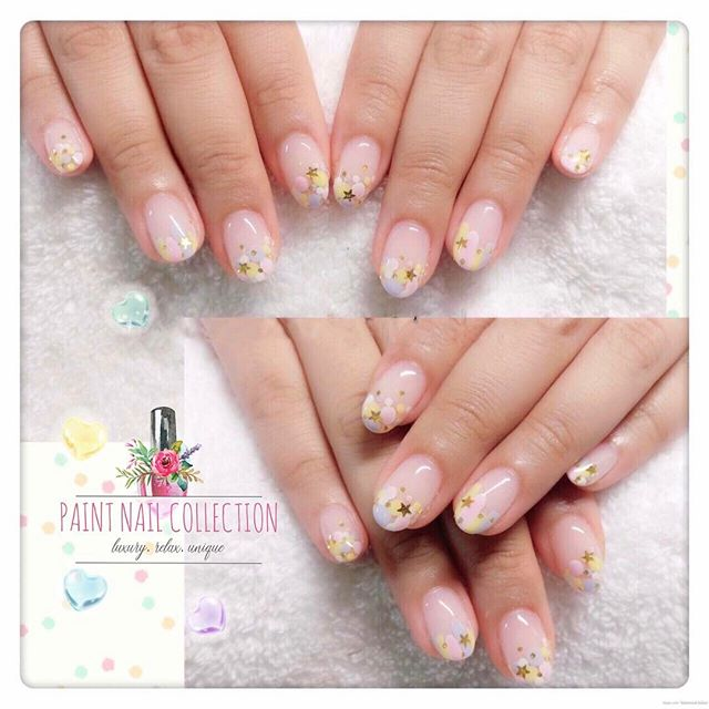 全手繪花兒~清新夏天✨☀️_Hand painted 🎨 flowers 🌺 _Follow us for more info__WeChat_paintnailcollection _Faceb