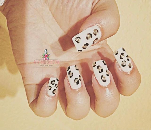White Leopard nails _ Paint Nail Collection by Kate ~ let's get wild !!! Follow us for