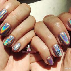 彩紅雷射粉美甲from Paint Nail,閃瞎了眼了吧🌈 !!_Halo Nails from PaintNail!! I see RAINBOWS!! Omg 🌈 _Follow us fo