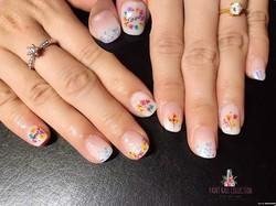腳[愉快]_Dried Flowers Nail Art ~ 2017 hot trends fashion! Can't wait to serve you guys for this coming