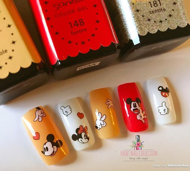 米老鼠🐭 適合每一個可愛的你們💕_Mickey Mouse Nails 🐭 You deserves to be cute😁! Follow us for more info__WeChat_