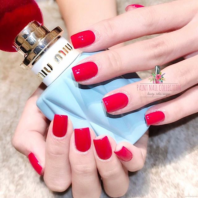 簡單 鮮紅 性感🌹_Flaming 「Red」💋 Follow us for more info__WeChat_paintnailcollection _Facebook_ Paint Nail