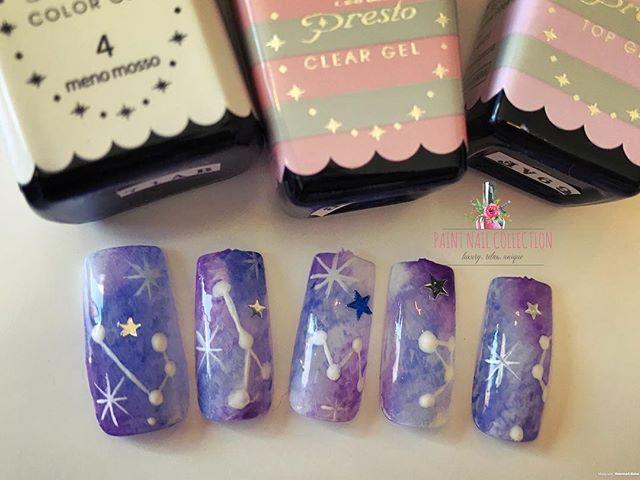 Paint Nail Collection 🎨 暈染星空系列✨大家喜歡什麼樣的美甲歡迎來圖啊!_Galaxy nail art 🌌 from Paint Nail
