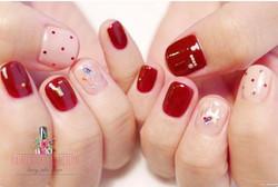 紅色也可以很清新✨_Theses are 「Red」prefect matches 💕😁 Follow us for more info__WeChat_paintnailcollection _