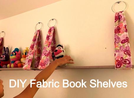 Easy DIY fabric bookshelves