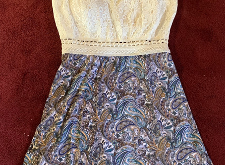 Upcycled lacy dress