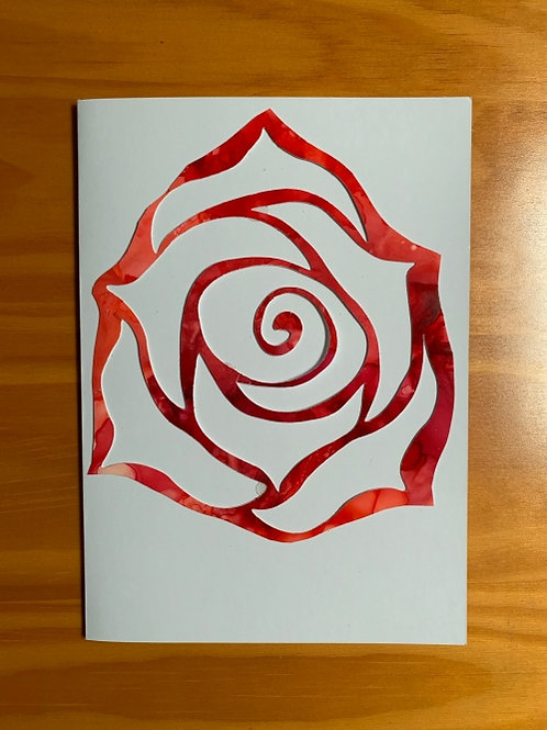 Red Rose Greeting Card Inverted