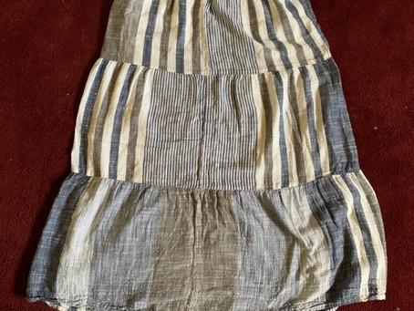 Upcycled skirt into a bag