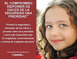 compromiso Kidpower de hacer de la segur