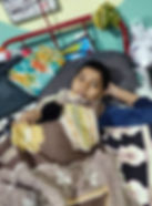 Child patient suffering from cancer at S