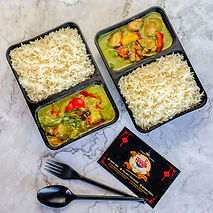 CHICKENVEG THAI GREEN CURRY WITH STEAMED RICE.JPG