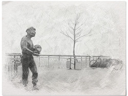 ball in navy s hand