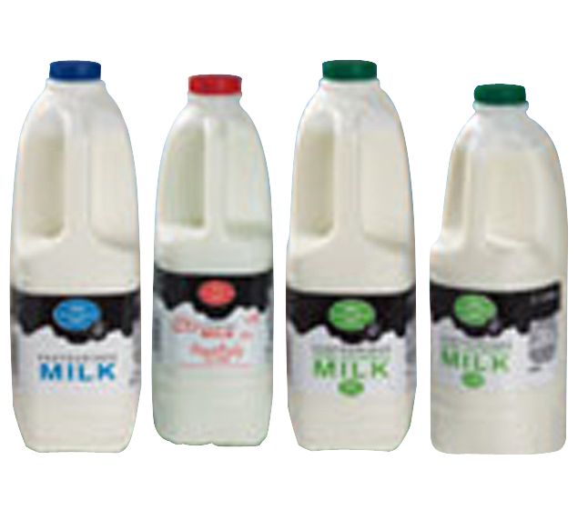 Milk plastic bottles stretch sleeve label Celtheq