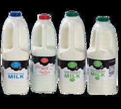 Milk plastic bottles stretch sleeve label Celtheq
