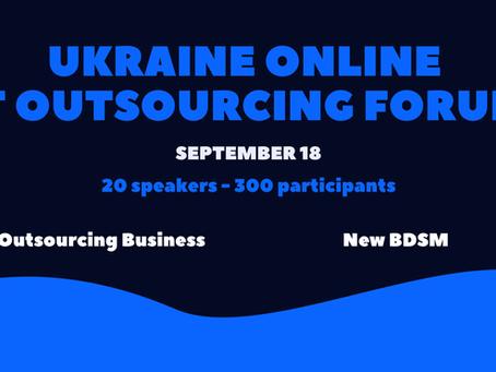UA Online IT Outsourcing Forum 18. 09. 2021 Kyiv/Ukraine