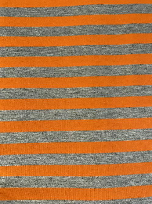 STRIPE-A-LICIOUS IN NEIN ORANGE JERSEY KNIT