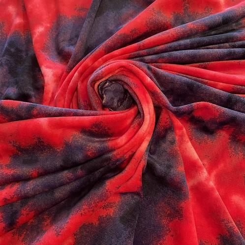 Pretty in Pink Tie Dye in  Stretch Velvet