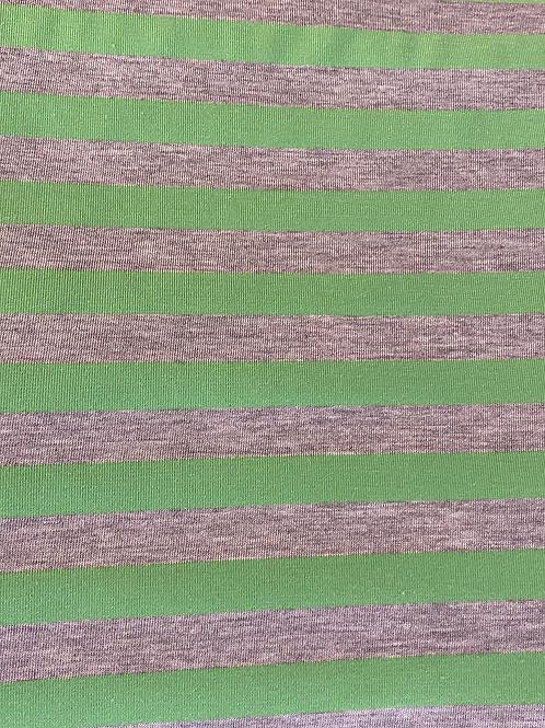 STRIPE-A-LICIOUS IN NEON GREEB JERSEY KNIT