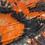 Thumbnail: SADIE Orange/Black TIE DYE in BRUSHED ITY KNIT