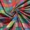 Thumbnail: ColorBlocks Dark Rainbow in Hand Woven Cotton