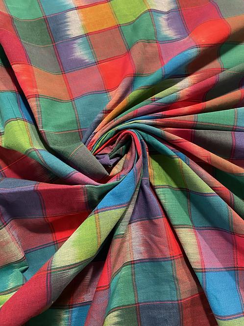 ColorBlocks Dark Rainbow in Hand Woven Cotton