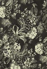 Black and White Flower Print
