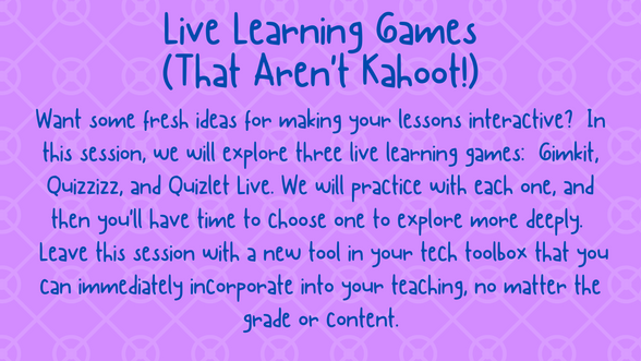 Live Learning Games (That Aren't Kahoot)