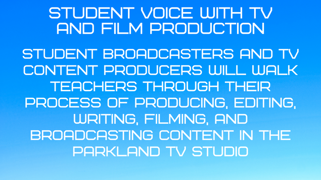 Student Voice with TV & Film Production