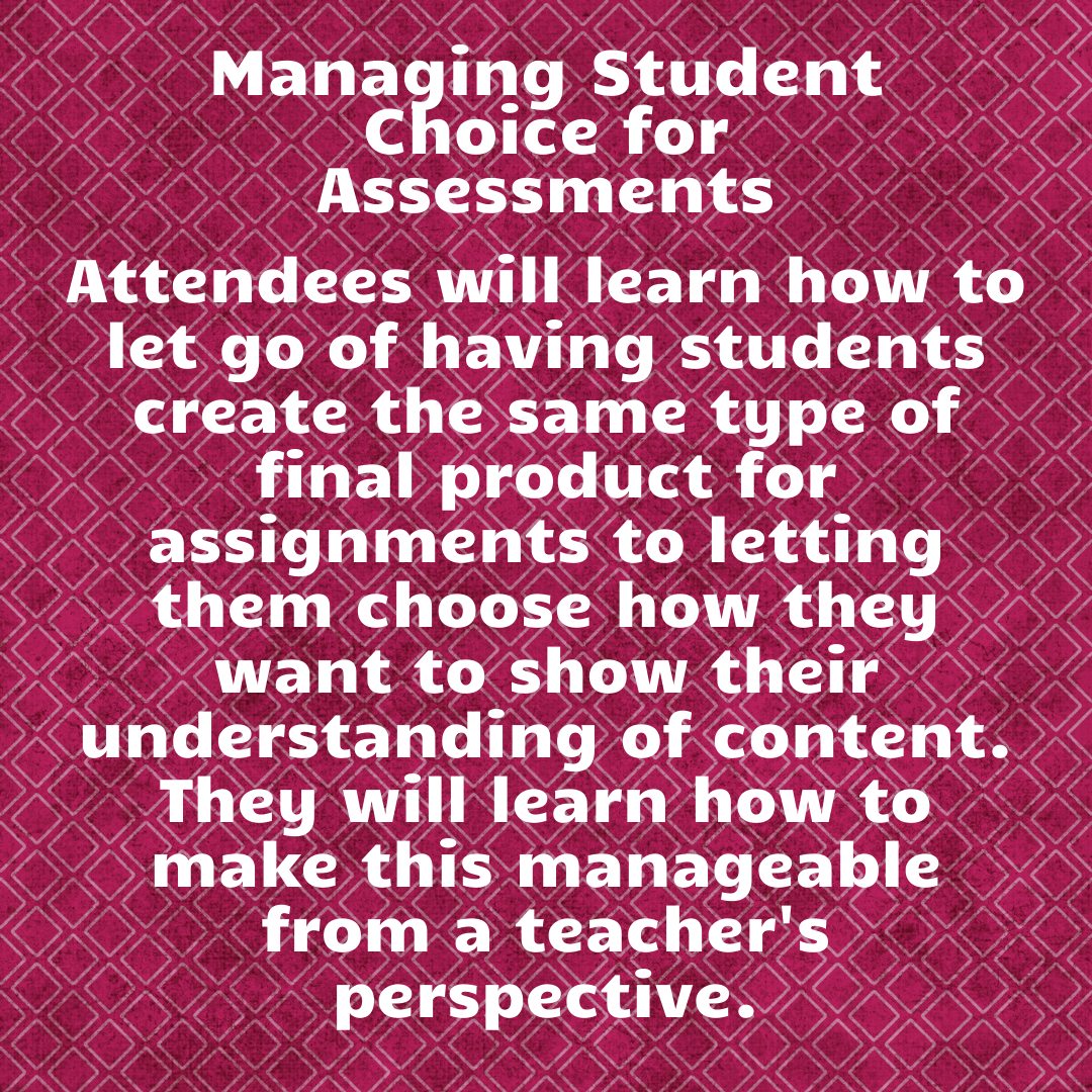 Managing Student Choice for Assessment