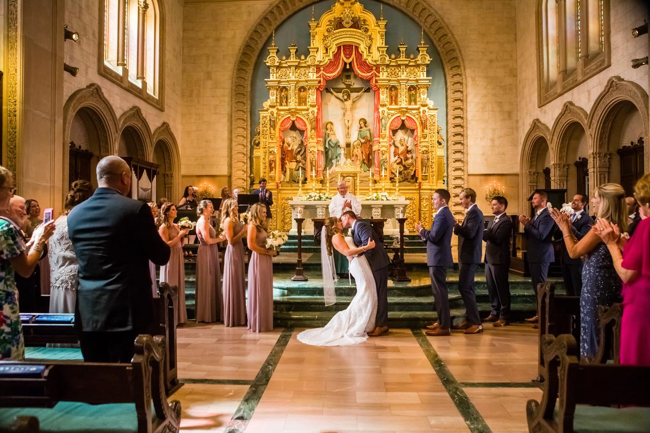 San Diego Wedding Photographer, Best of 2018 wedding photography, Berlynn Photography, San Diego Wedding Photography, bride and groom kiss church wedding