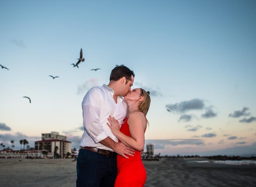 Coronado San Diego Engagement Photograph