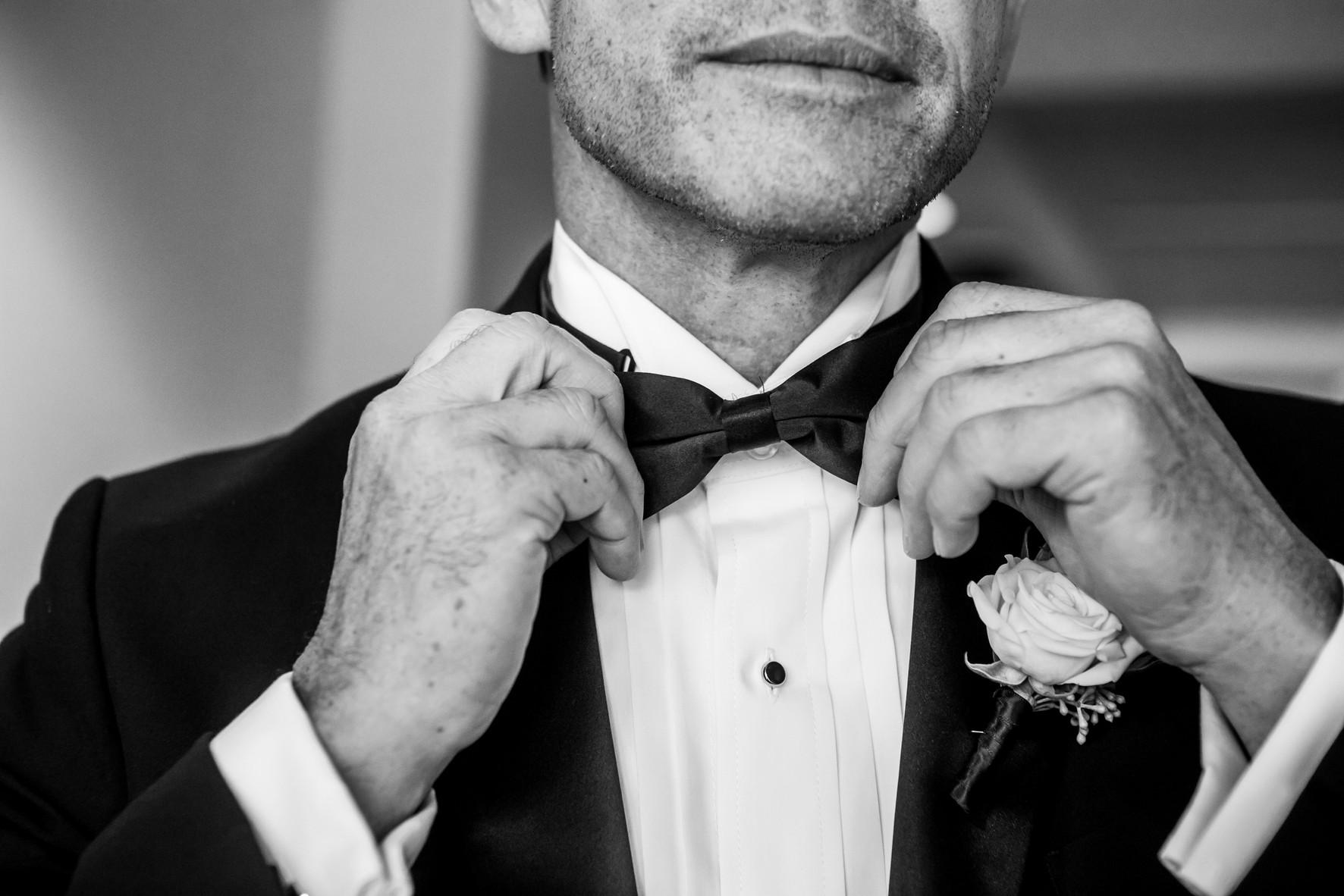 San Diego Wedding Photographer, Berlynn Photography, San Diego Wedding Photography, groom black and white bow tie