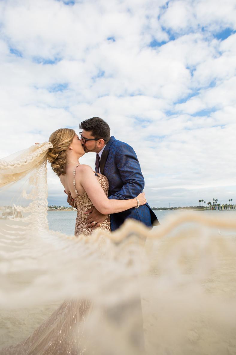 San Diego Wedding Photographer, Destination Wedding Photography, Berlynn Photography, San Diego Wedding Photography, bride and groom romantic portrait with veil