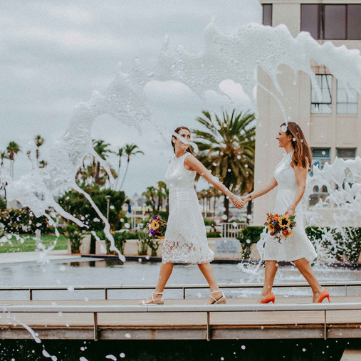 San Diego Elopement Photography | Amy & Kate | Downtown Courthouse