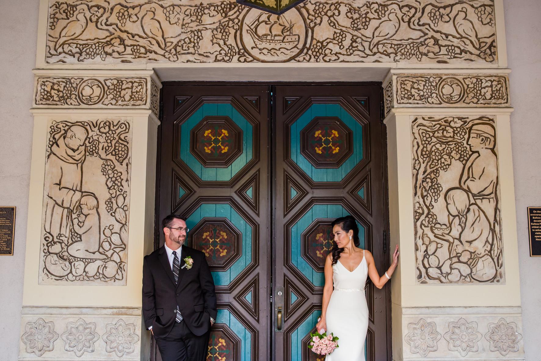 San Diego Wedding Photographer, Berlynn Photography, San Diego Wedding Photography, bride and groom at balboa park wedding