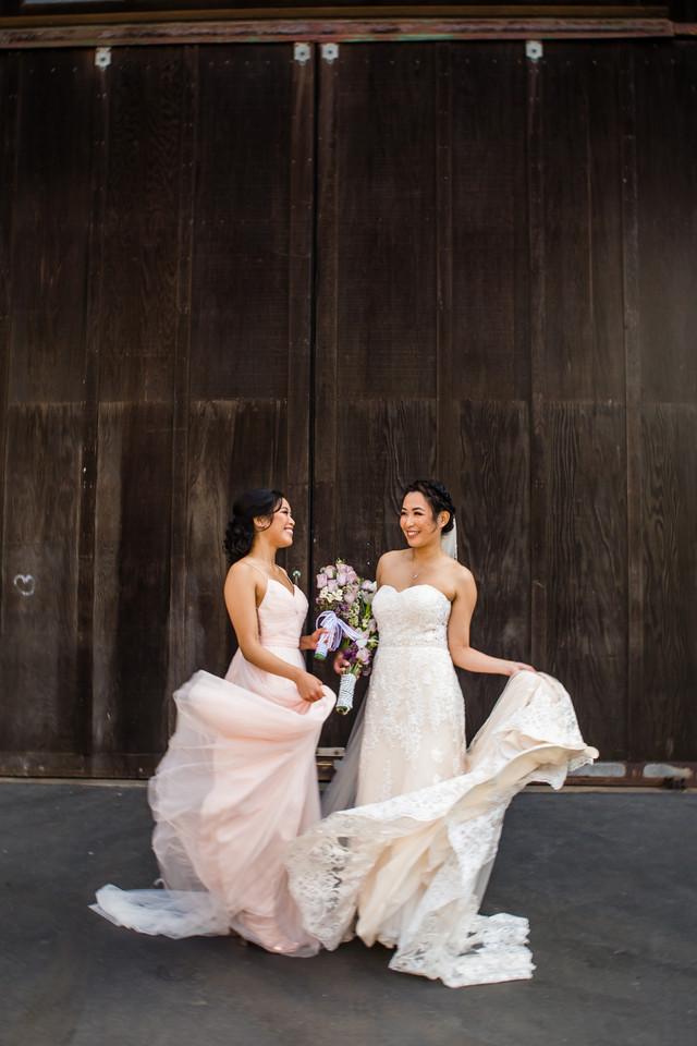 Best of 2018 wedding photography, San Diego, Berlynn Photography, San Diego Wedding Photography, Bride twirling dress with sister portrait