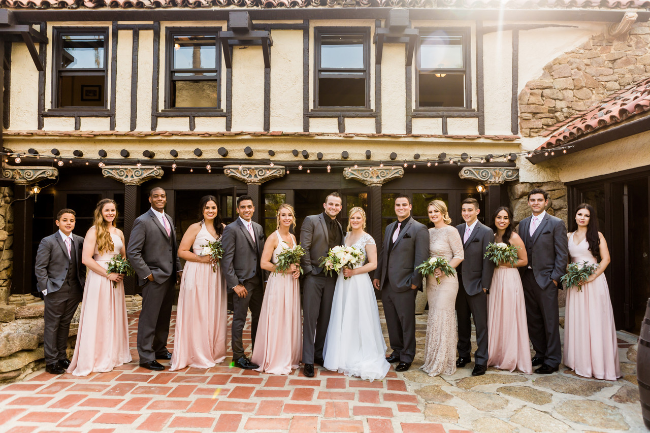 Mt. Woodson Castle Wedding, San Diego Wedding Photographer, Berlynn Photography, San Diego Wedding Photography, bridal party portrait
