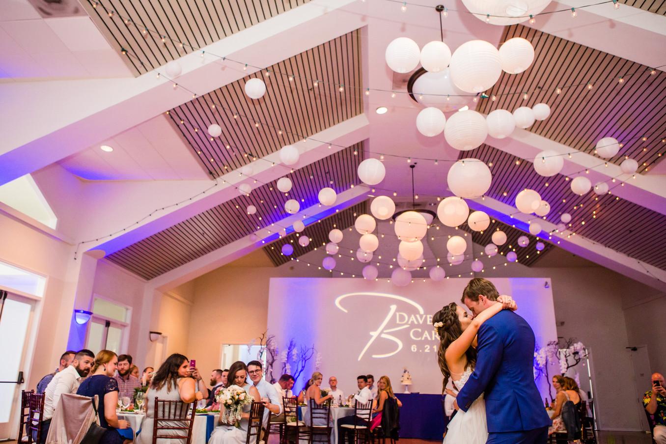 San Diego Wedding Photographer, Berlynn Photography, San Diego Wedding Photography, bride and groom kiss at reception