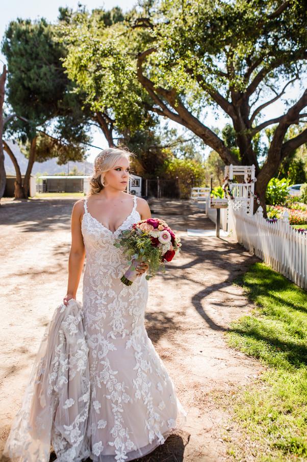 San Diego Wedding Photographer, Best of 2018 wedding photography, Berlynn Photography, San Diego Wedding Photography, bride portrait at hazy meadows ranch