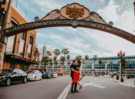 Engagement Photography - Downtown San Diego & Seaport Village Engagement Session