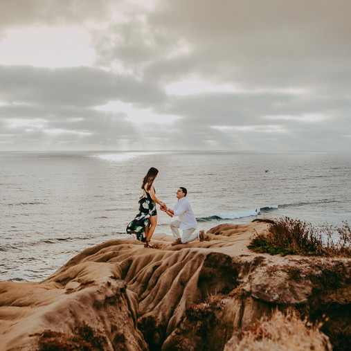 Sunset Cliffs OB | San Diego Engagement Photography | Nicole & Ryan