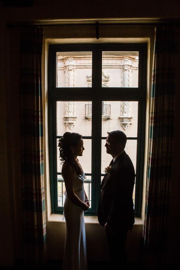 San Diego Wedding Photography, Berlynn Photography, Bride and Groom Silhoutte Balboa Park