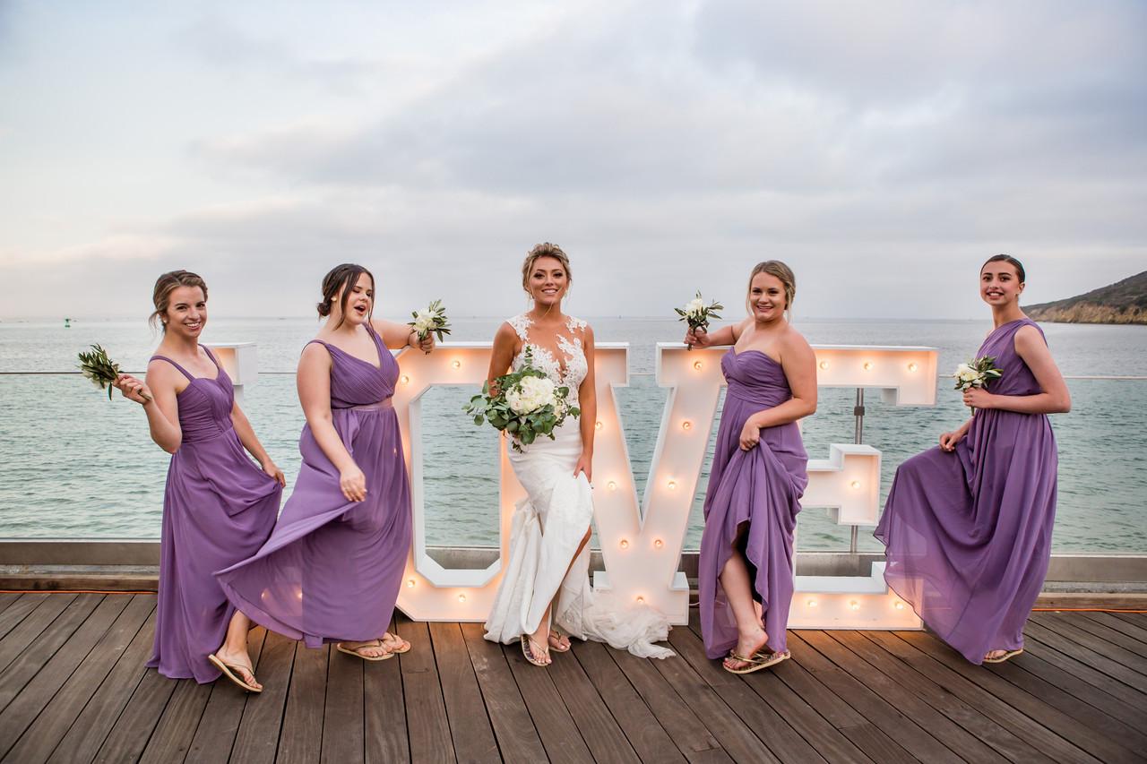 San Diego Wedding Photographer, Berlynn Photography, San Diego Wedding Photography, bridesmaids portrait fun with dresses