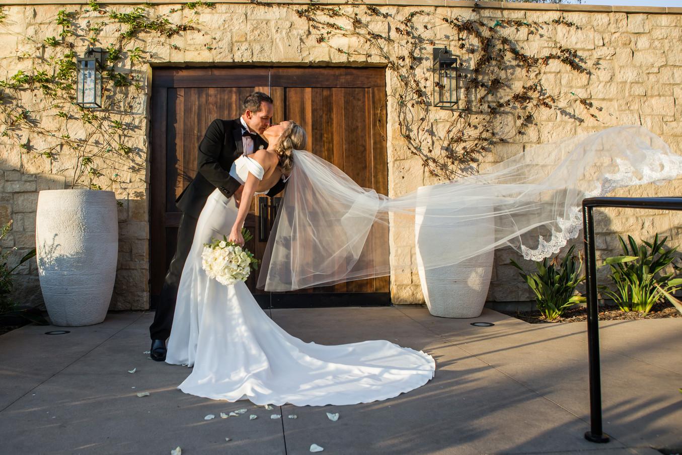 San Diego Wedding Photography, Berlynn Photography, Bride and Groom romantic portrait Fairbanks Ranch Country Club
