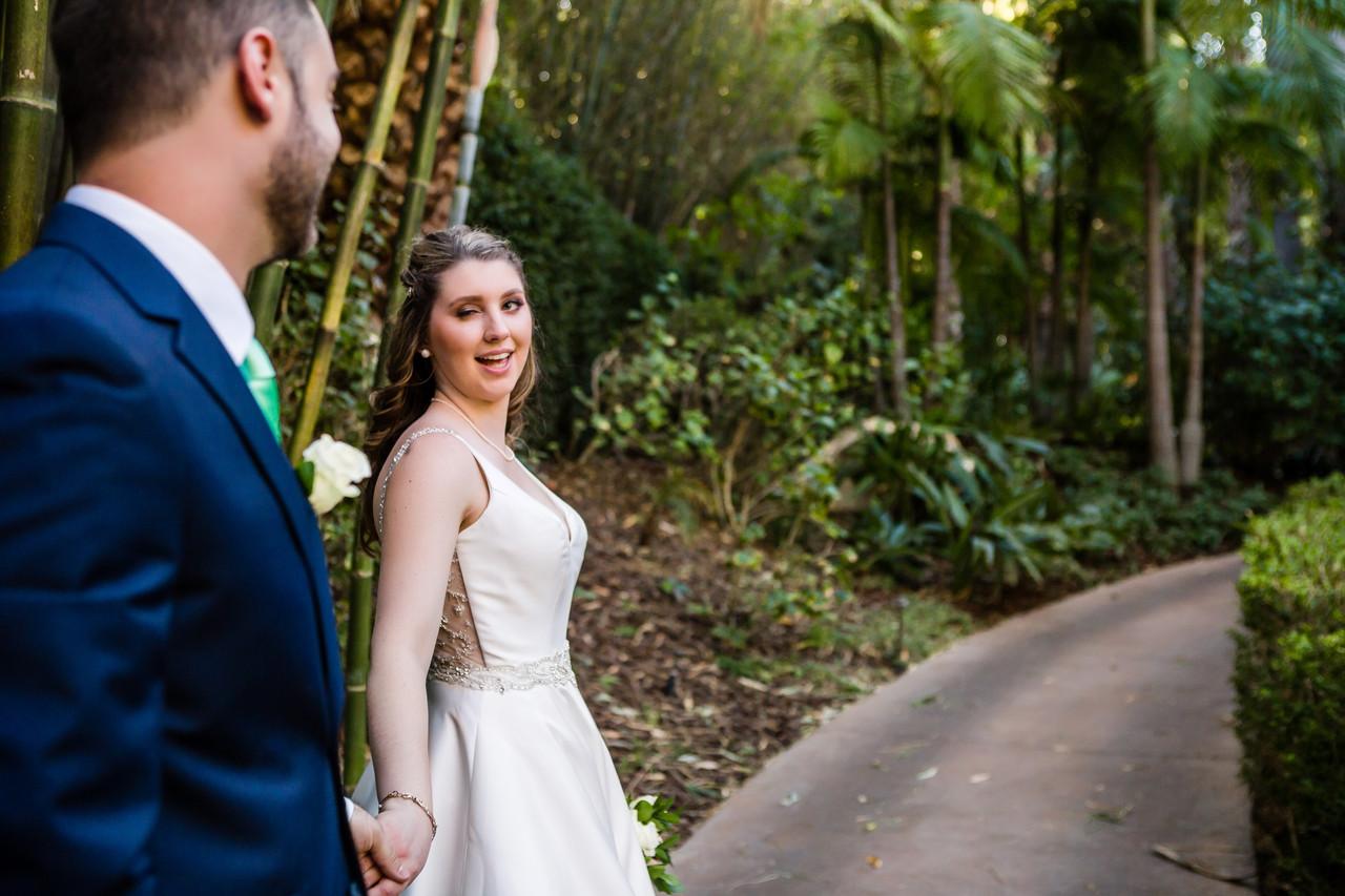 San Diego Wedding Photographer, Elopement Photographer, Berlynn Photography, San Diego Wedding Photography, bride wink at groom