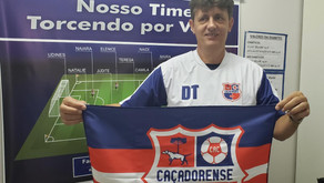 Caçadorense apresenta técnico da equipe sub-20