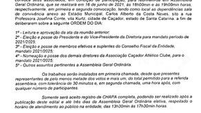 Edital de Convocação - Assembléia Geral Ordinária Eletiva