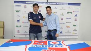 Rodrigo Cascca é o novo treinador da Caçadorense