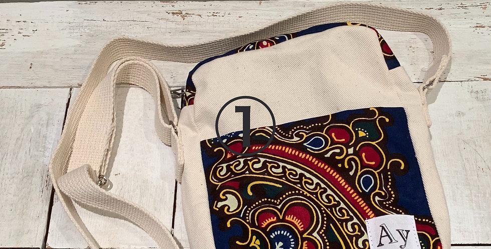 mini shoulder bag(生成り×リプタ)