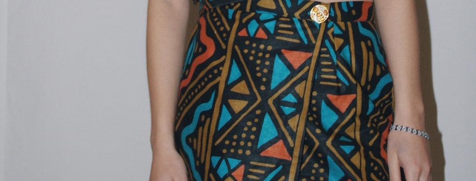 TOTEM POLE wrap skirt